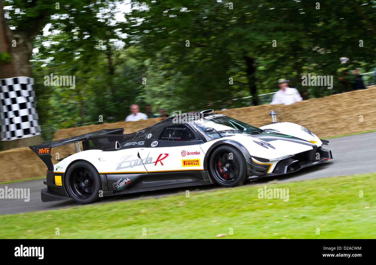 2012 pagani zonda r evo with driver bernd schneider at the 2012 pagani zonda r evo with driver bernd schneider at the goodwood festival of speed sussex uk vanachro Choice Image