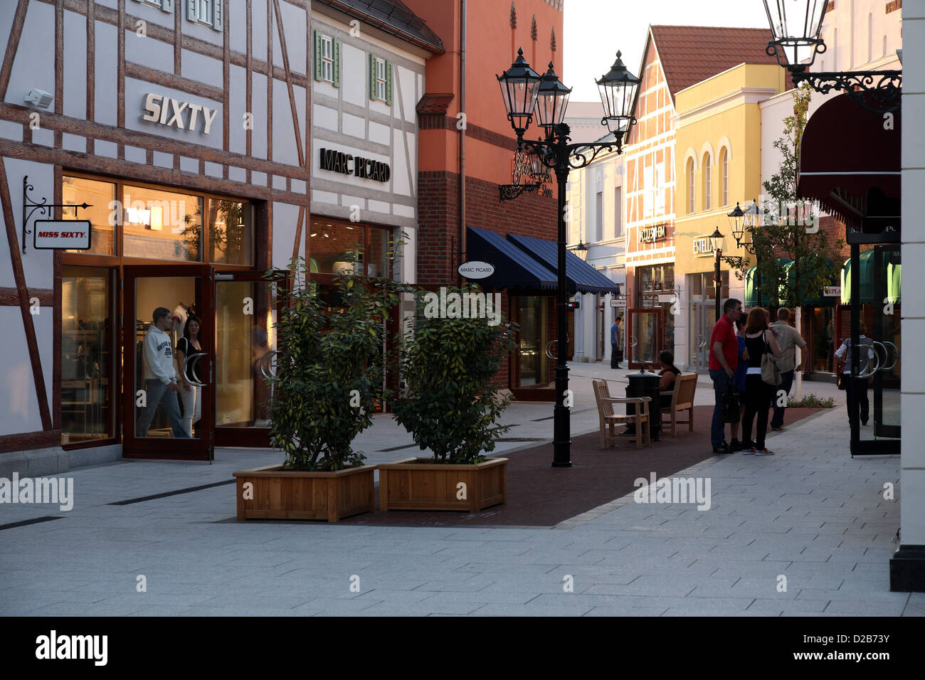 wustermark germany miss sixty in b5 designer outlet center stock photo royalty free image. Black Bedroom Furniture Sets. Home Design Ideas