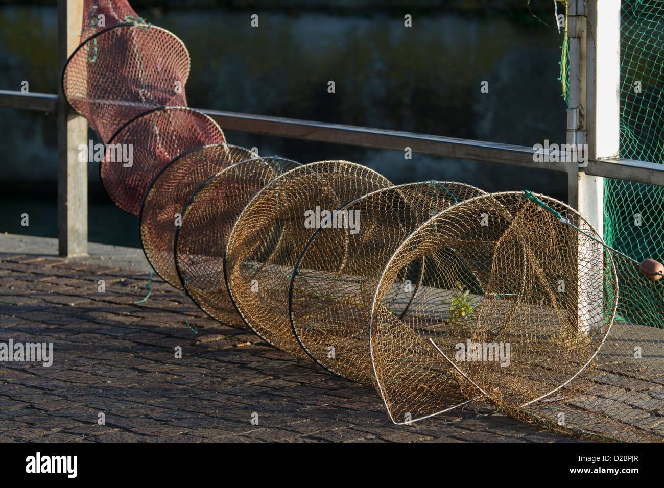 Drum net fish trap stock photo royalty free image for Fish trap net