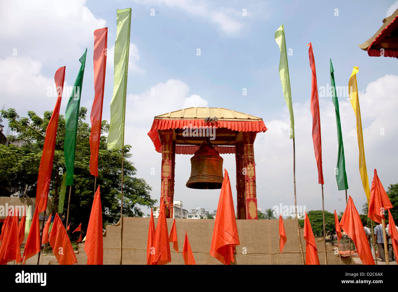Pandal stock photos pandal stock images alamy pagoda like pandal for durga pooja on dussera dusera vijayadasami festival dumdum calcutta now thecheapjerseys Images