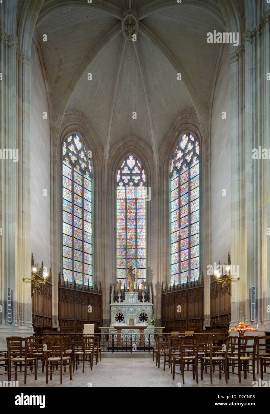 nantes france interior of the saint pierre cathedral of nantes stock photo royalty free image. Black Bedroom Furniture Sets. Home Design Ideas