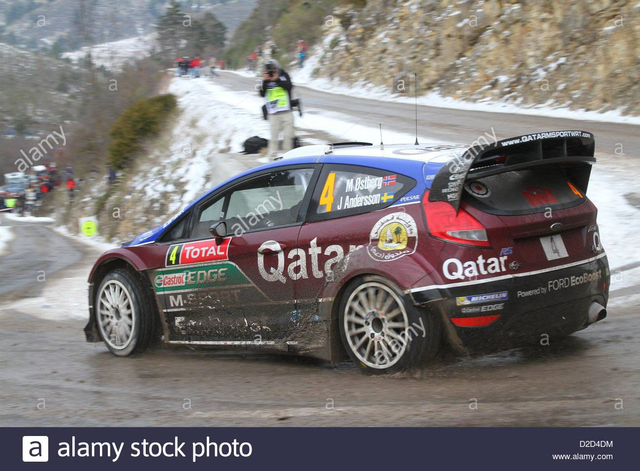 mads ostberg ford fiesta rs wrc saint nazaire le desert france 18 stock photo royalty free. Black Bedroom Furniture Sets. Home Design Ideas