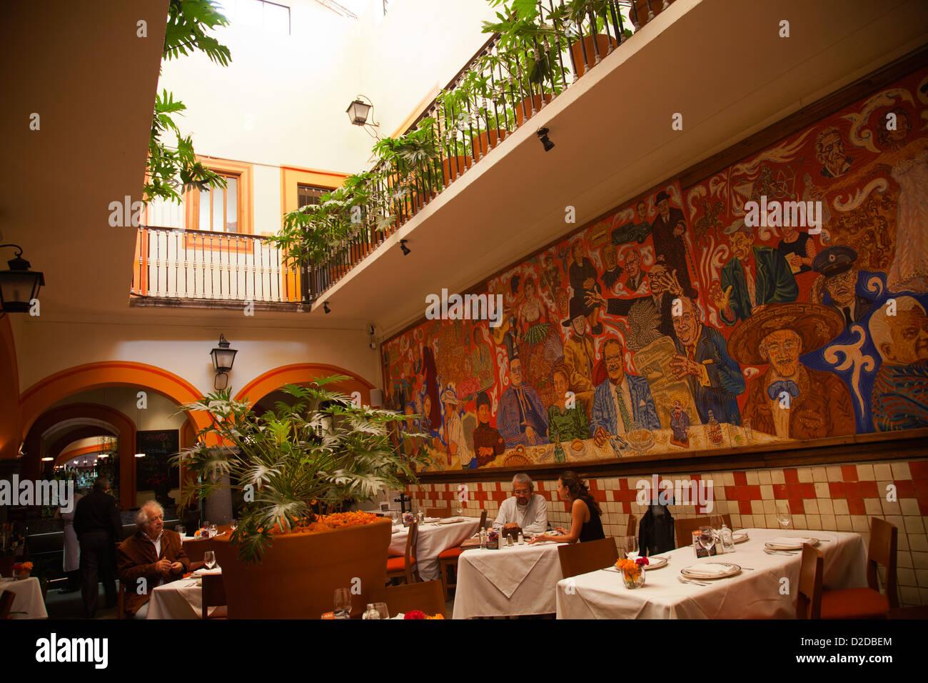 El mural de los poblanos restaurant in puebla mexico for El mural restaurante puebla