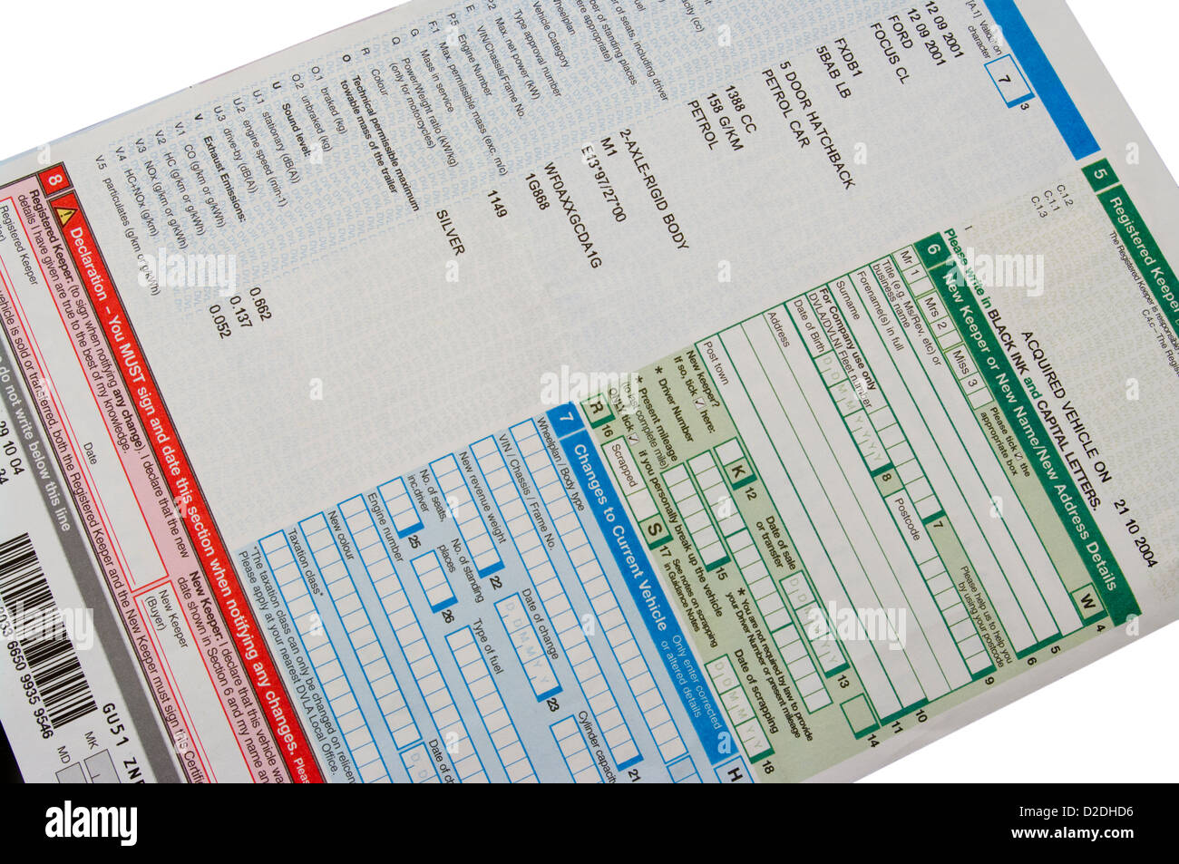 Dvla vehicle registration document with fictional details stock dvla vehicle registration document with fictional details xflitez Images