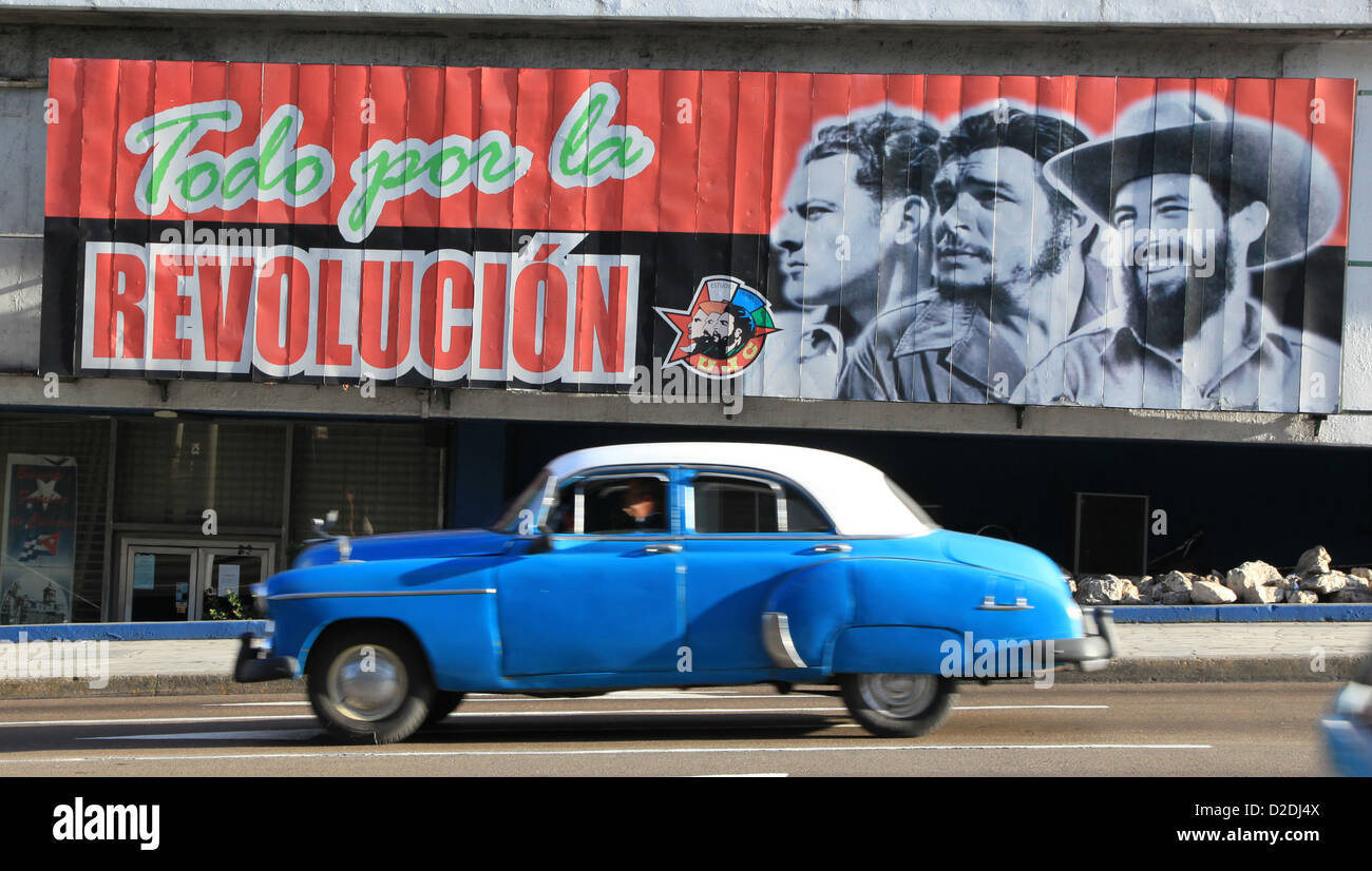 Classic American Vintage Cars In Havana Cuba Stock Photo Royalty