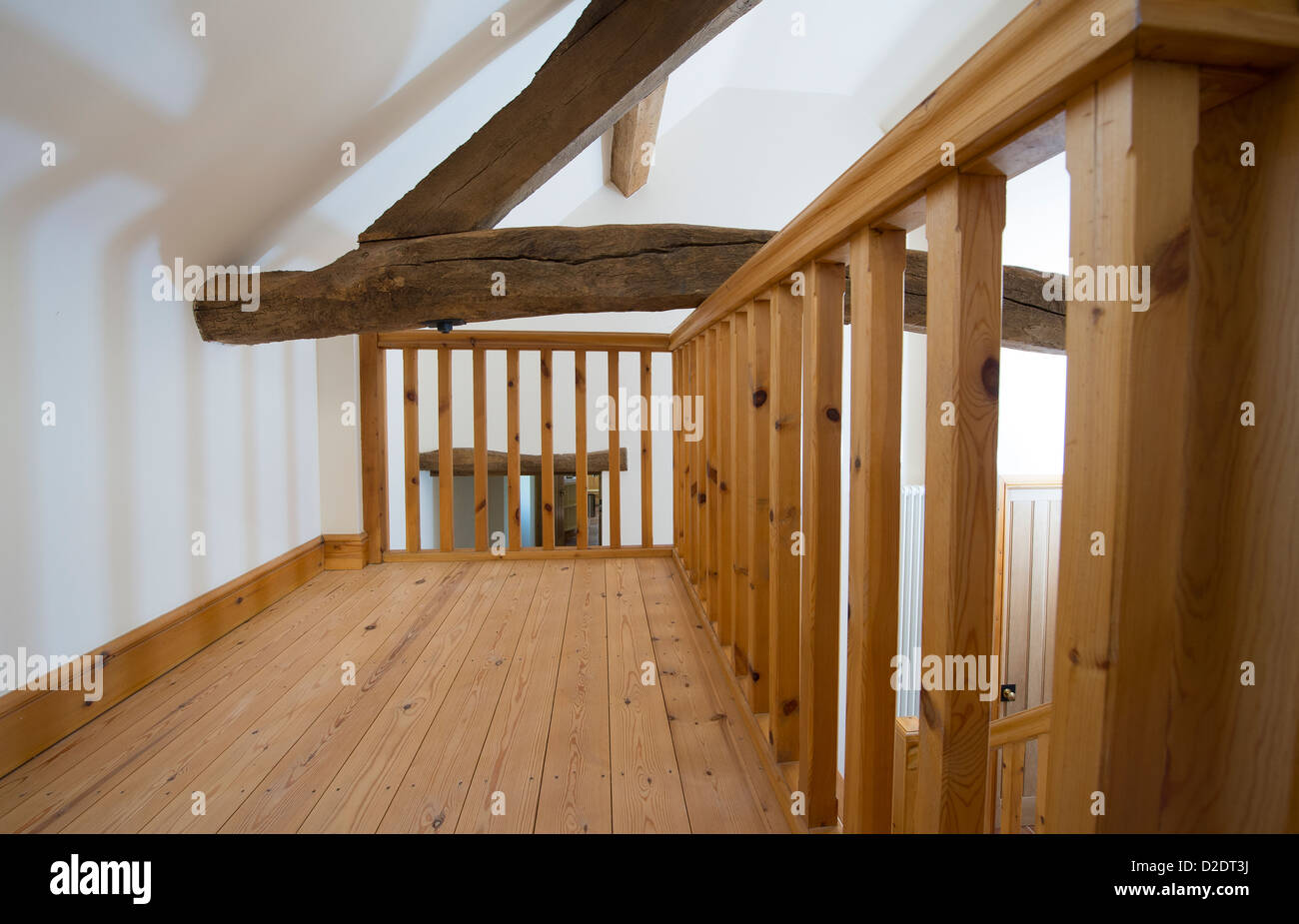 Beautiful Old Beams In A Recently Converted Barn In Rural