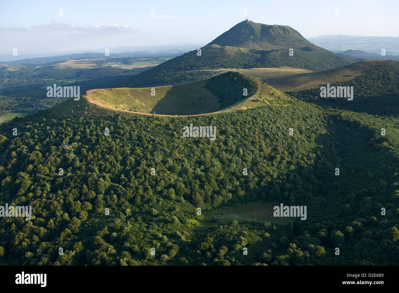 scoria cone crater puy de dome chaine des puys nature park of stock photo royalty free image. Black Bedroom Furniture Sets. Home Design Ideas