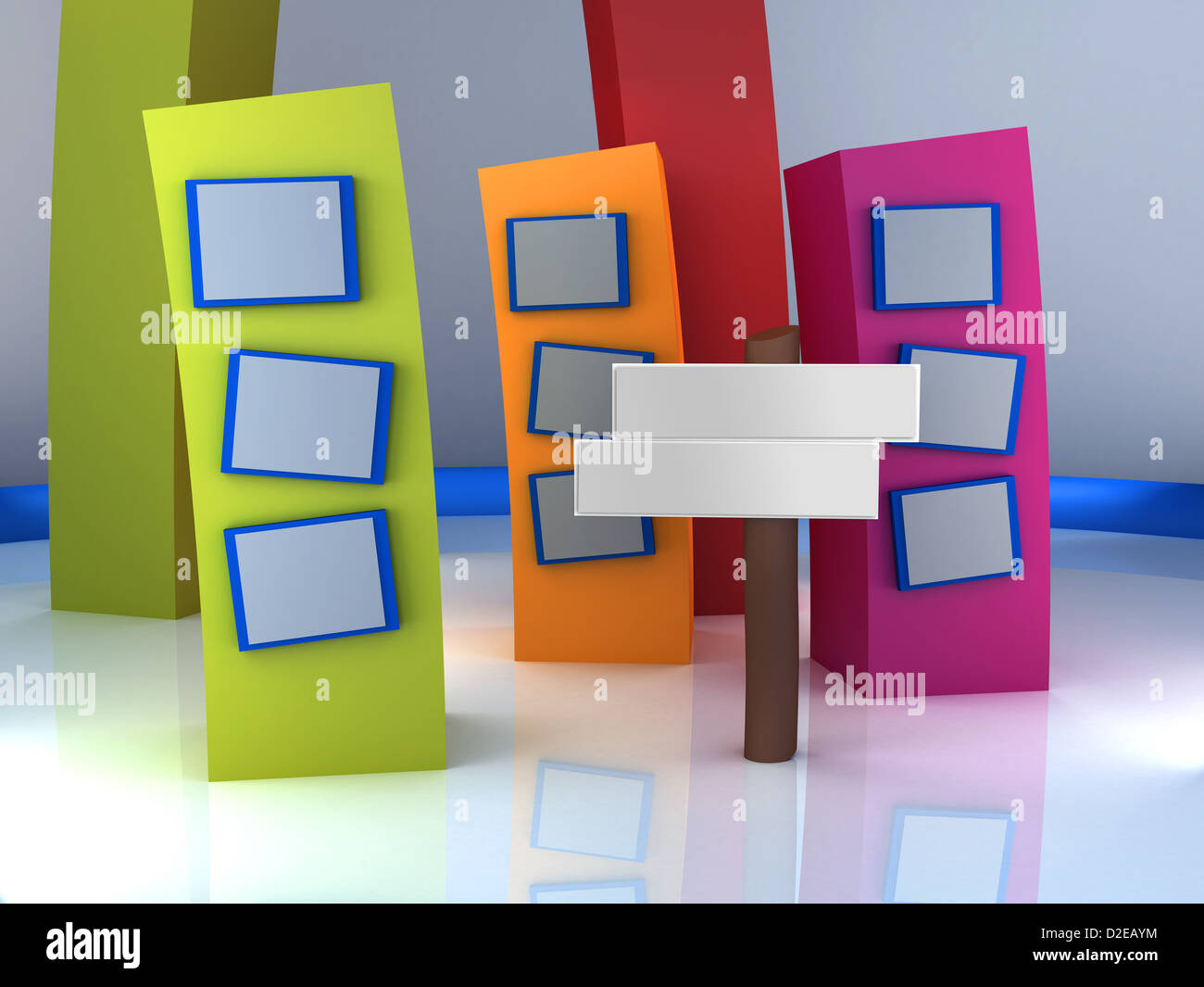 3d Studio Tv Virtual Set Stock Photo Royalty Free Image