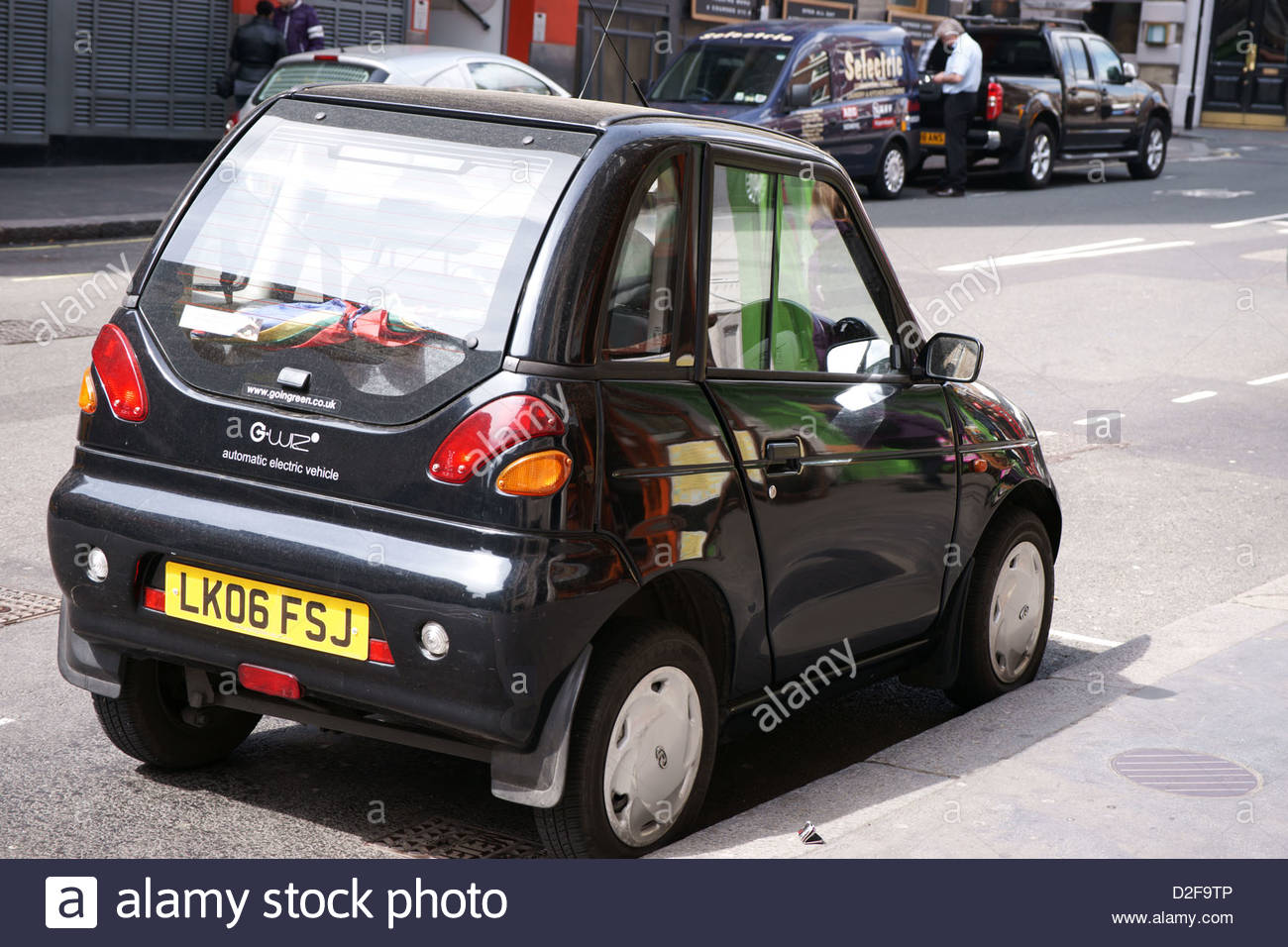 Black G Wiz Electric Car Stock Photo Royalty Free Image