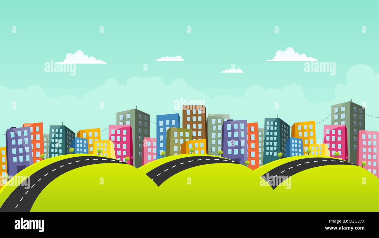 City road vector background
