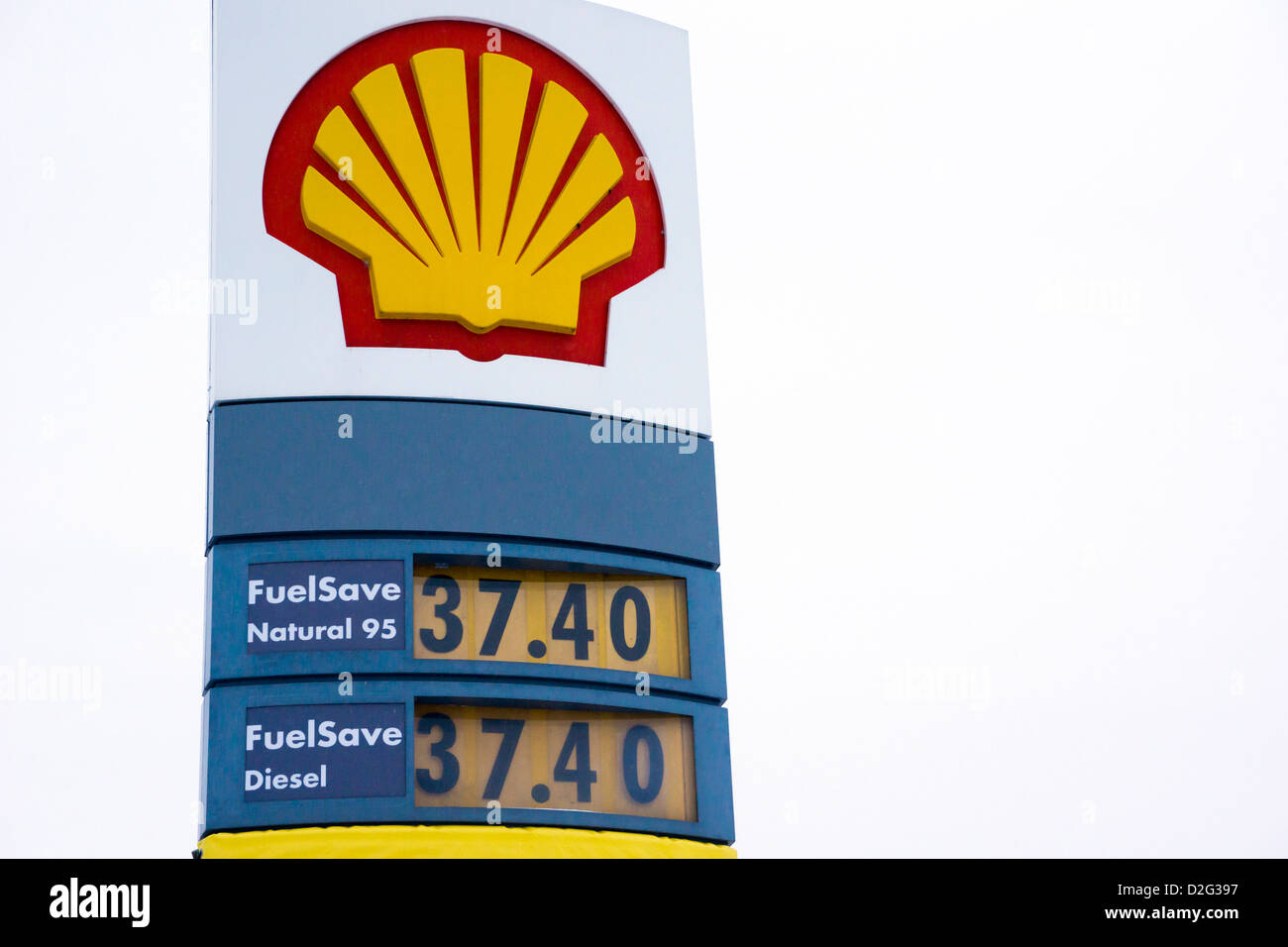 shell company sign at a gas station stock photo royalty