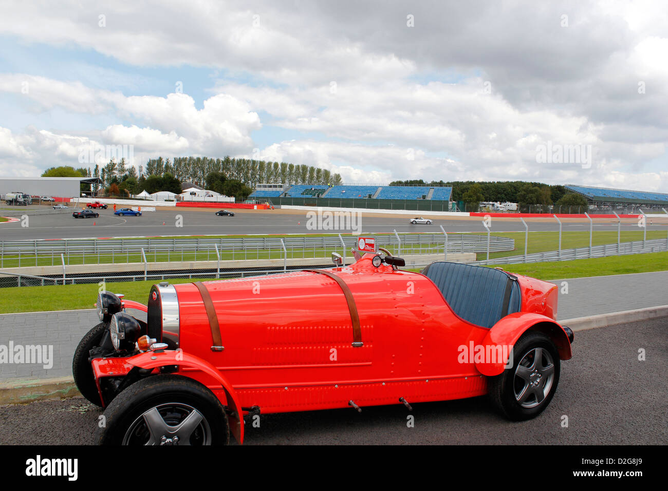 Bugatti On Show At The Silverstone Classic Cars Event July