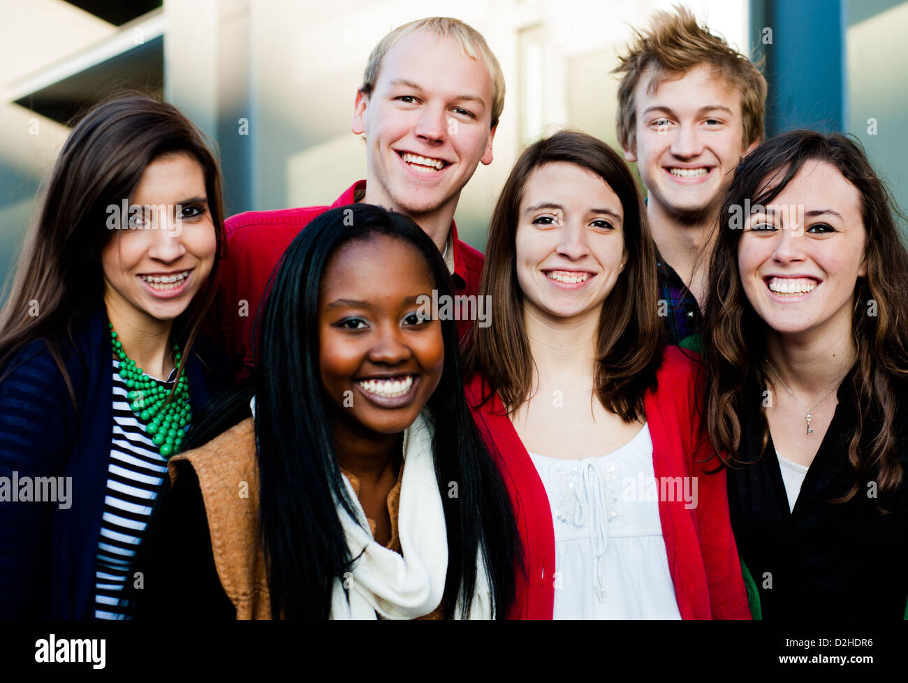 Diverse group of college students or friends Stock Photo ...