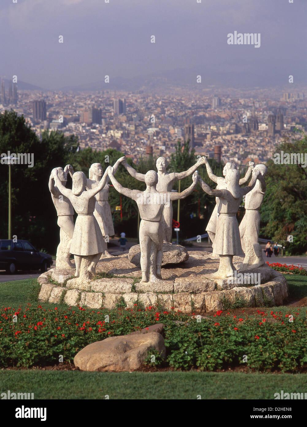 Monument de la sardana jardin de joan brossa montju c for Barcelona jardin