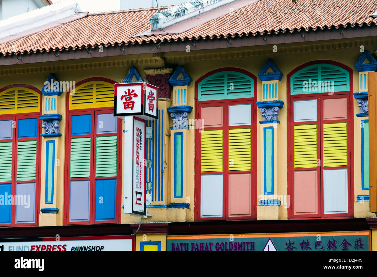 Colorful House colorful house little india singapore stock photos & colorful