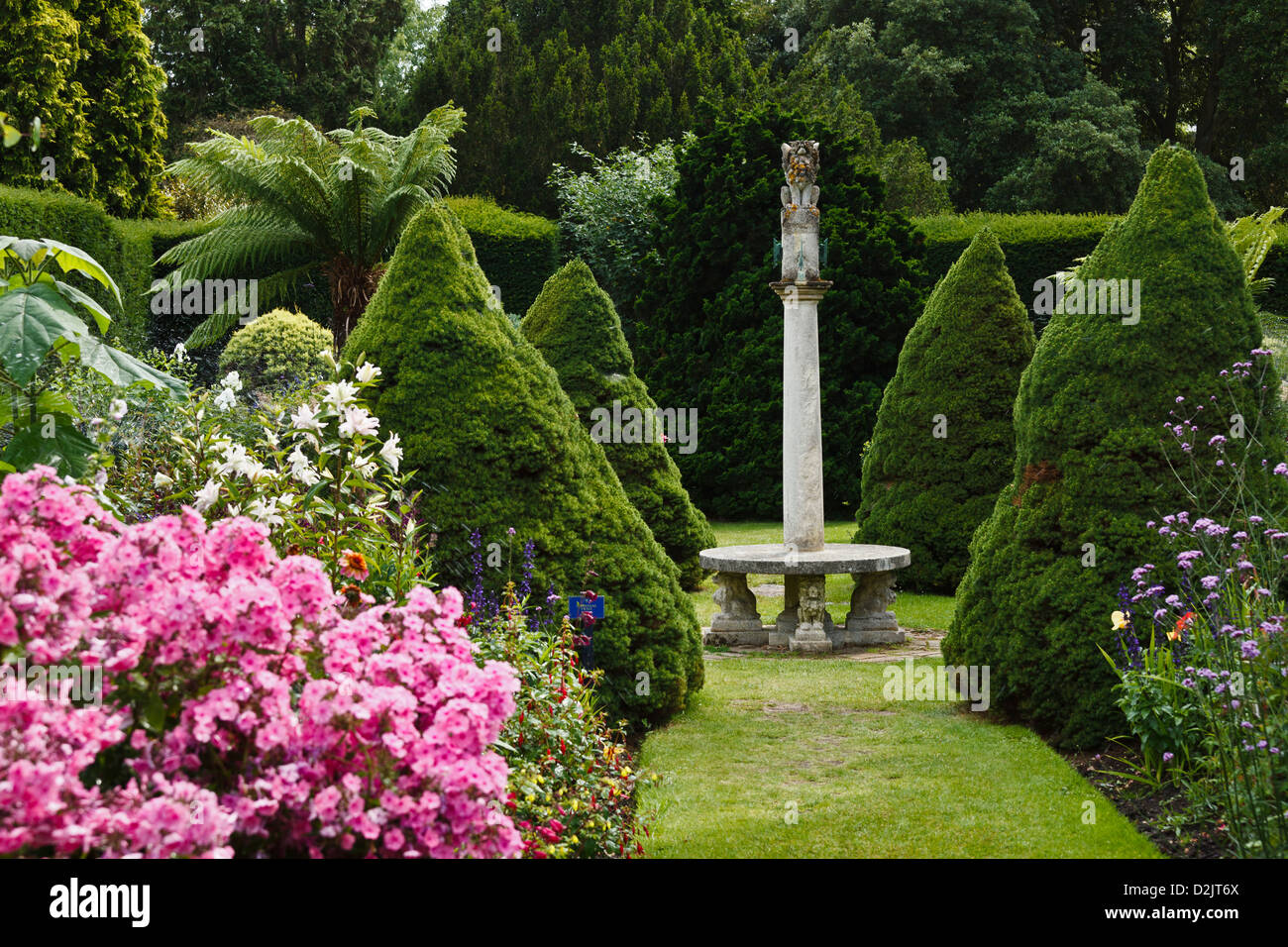 The Sundial Garden, Exbury Gardens, New Forest, Hampshire, England