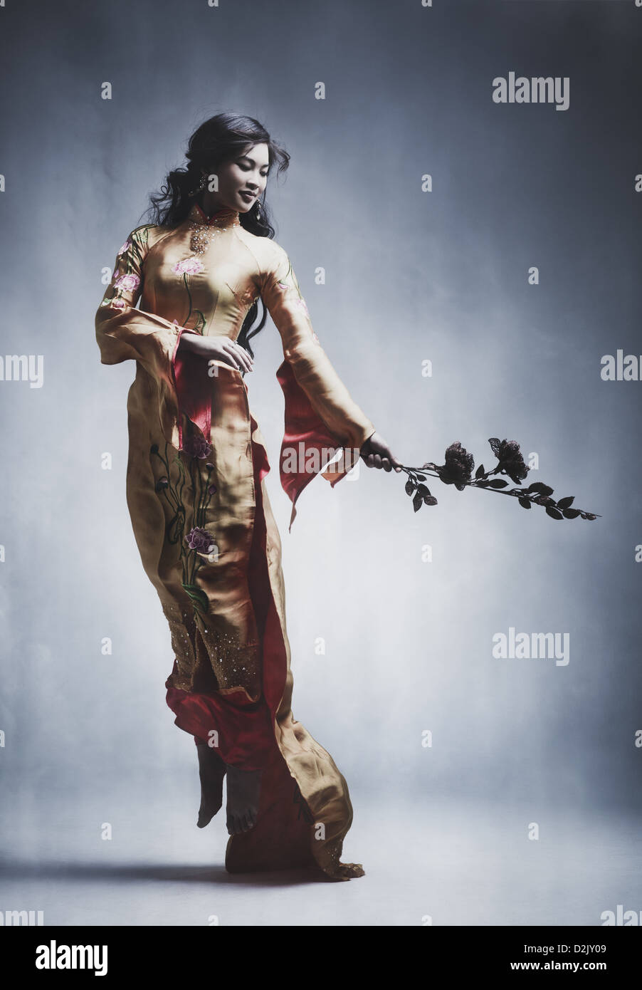 Elegant Asian Young Elegant Asian Woman Film Style Colors Stock Photo Royalty