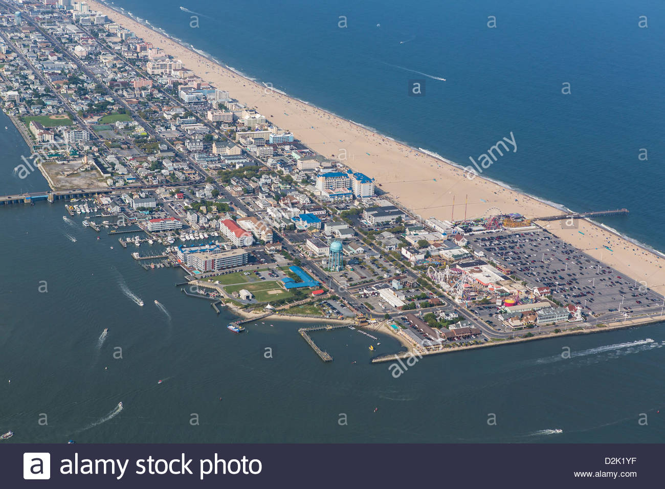 Aerial View Of Ocean City Md Located On The East Coast Of