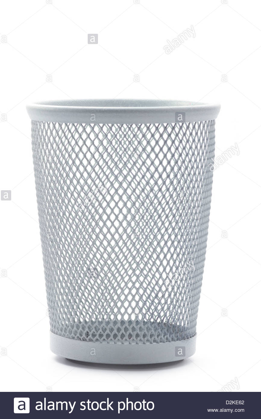 Wastepaper Basket Isolated Empty Metal Office Wastepaper Basket Stock Photo Royalty