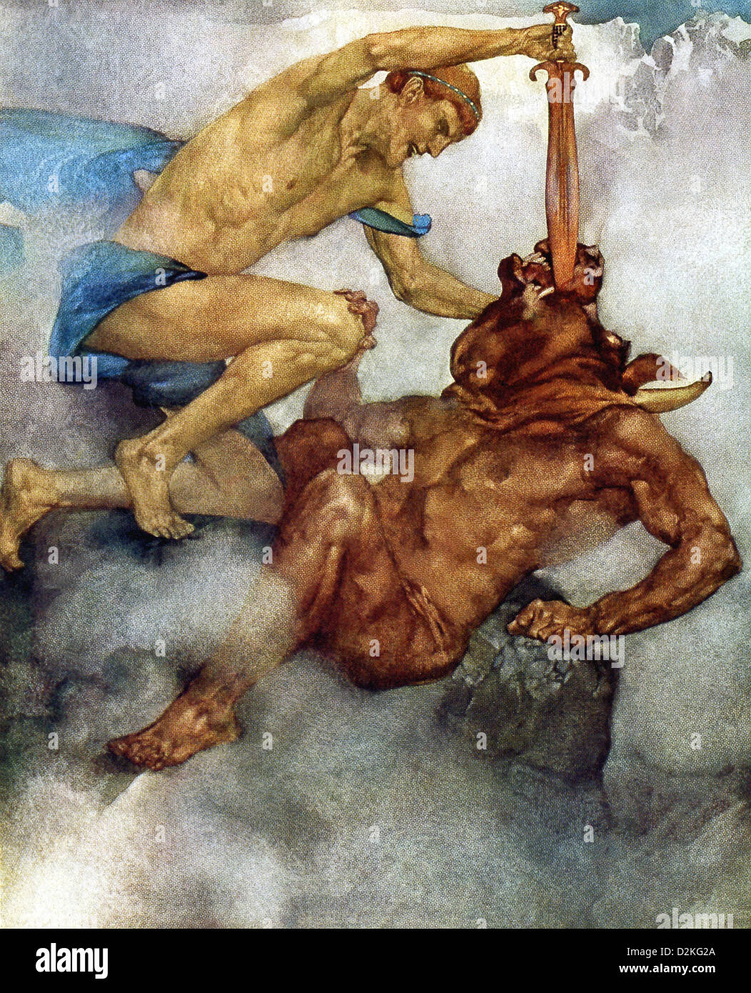 greek legend stock photos greek legend stock images  in greek mythology theseus is a legendary hero of athens who kills the minotaur