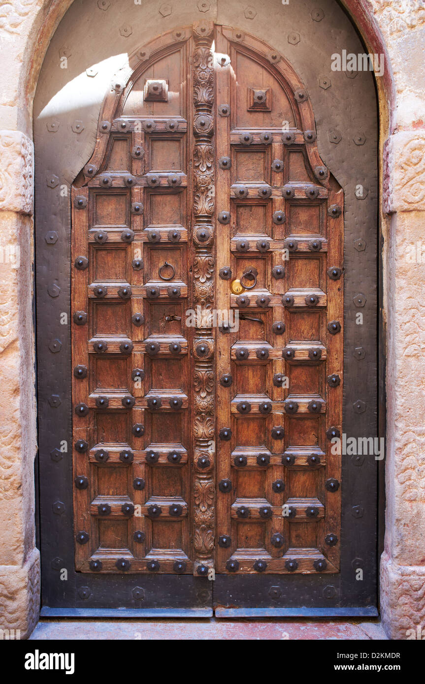 Traditional wooden castle door Stock Photo, Royalty Free Image ...