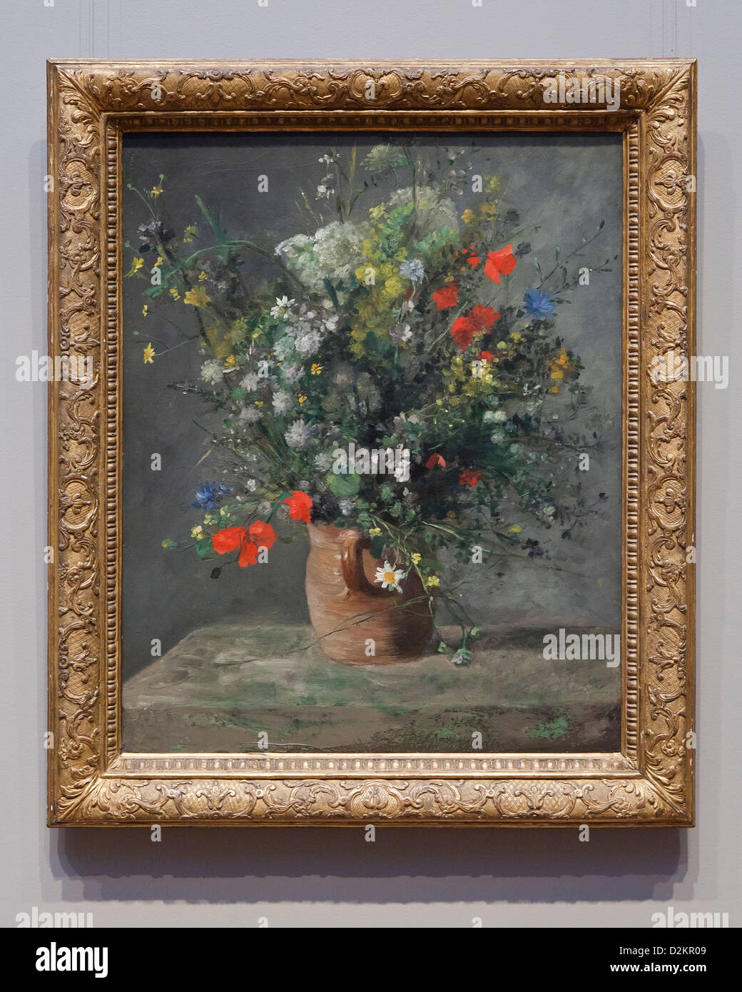 Quot Flowers In A Vase Quot By Auguste Renoir 1866 Smithsonian