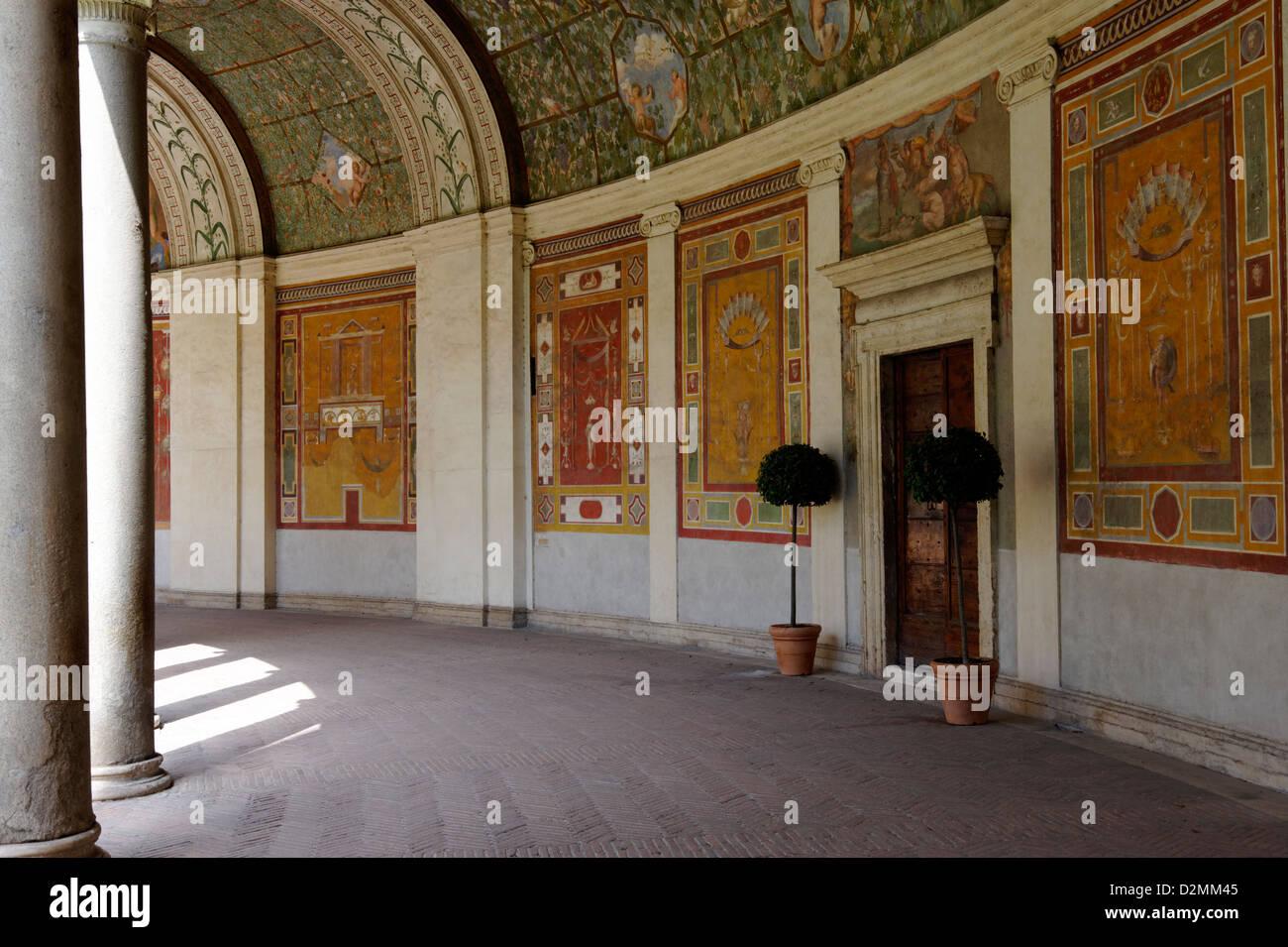 Villa giulia rome italy section of the elaborate for Decoration villa