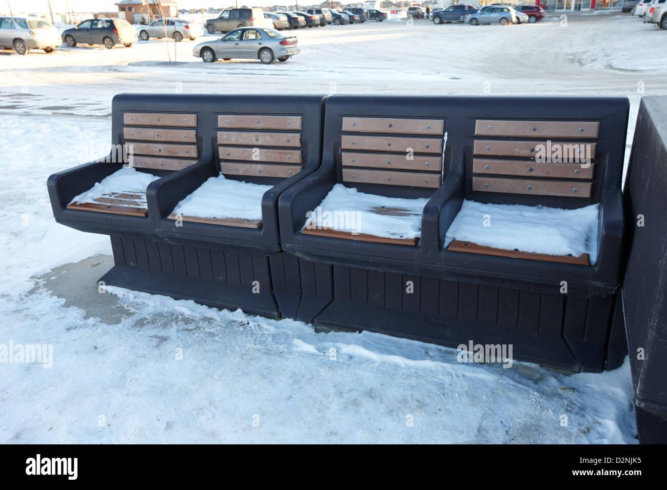 Tags Furniture Stores Furniture Saskatoon Stock Photo Outdoor Bus Stop Seats Covered With Snow Saskatoon