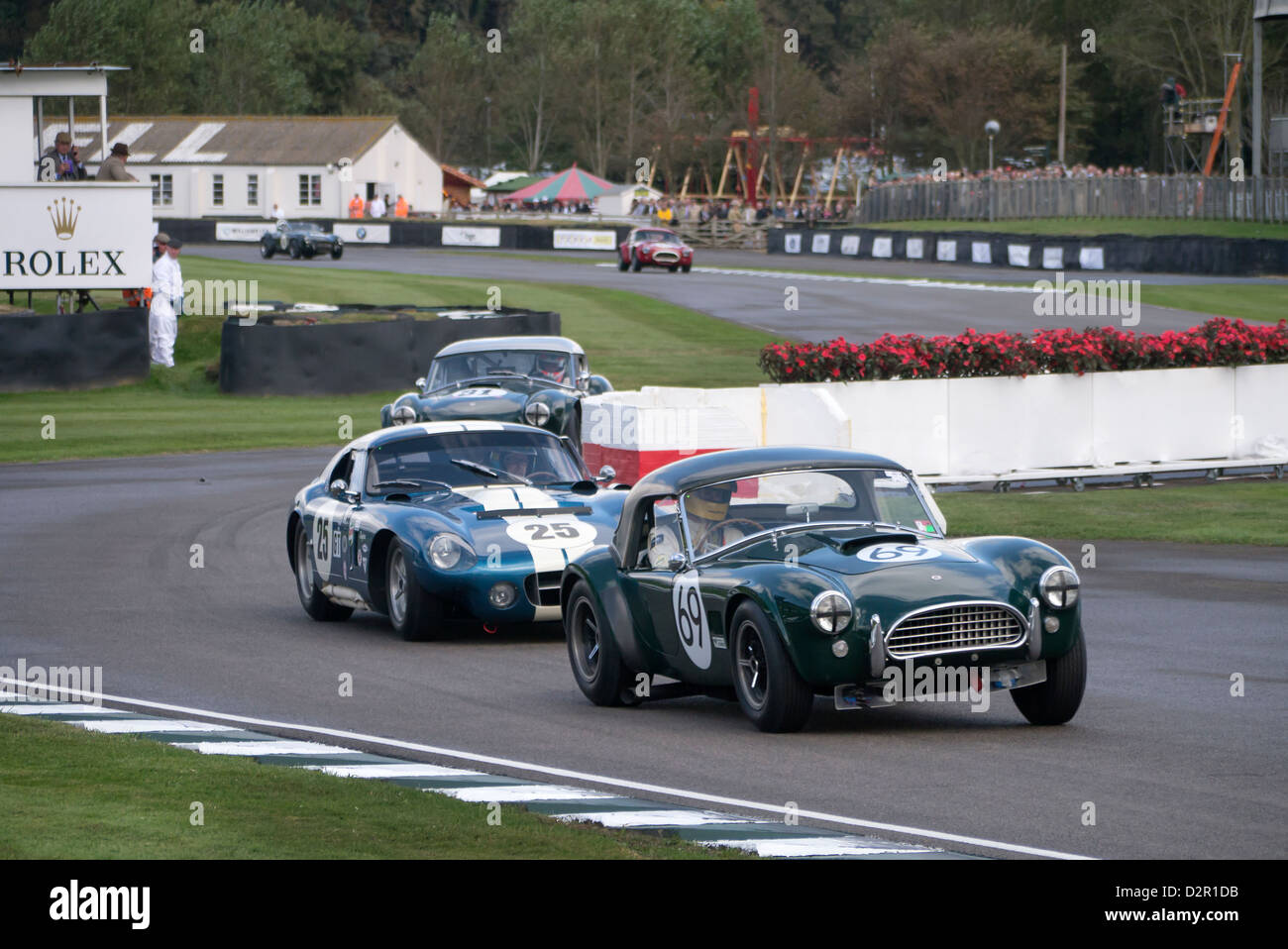 Selby Cobra Racing Cars In The Shelby Cup Race Goodwood Revival