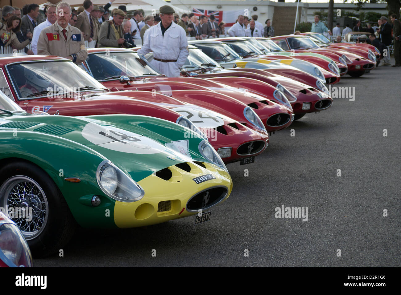 S Ferrari Gto Racing Cars In The Paddock Before Gto Race