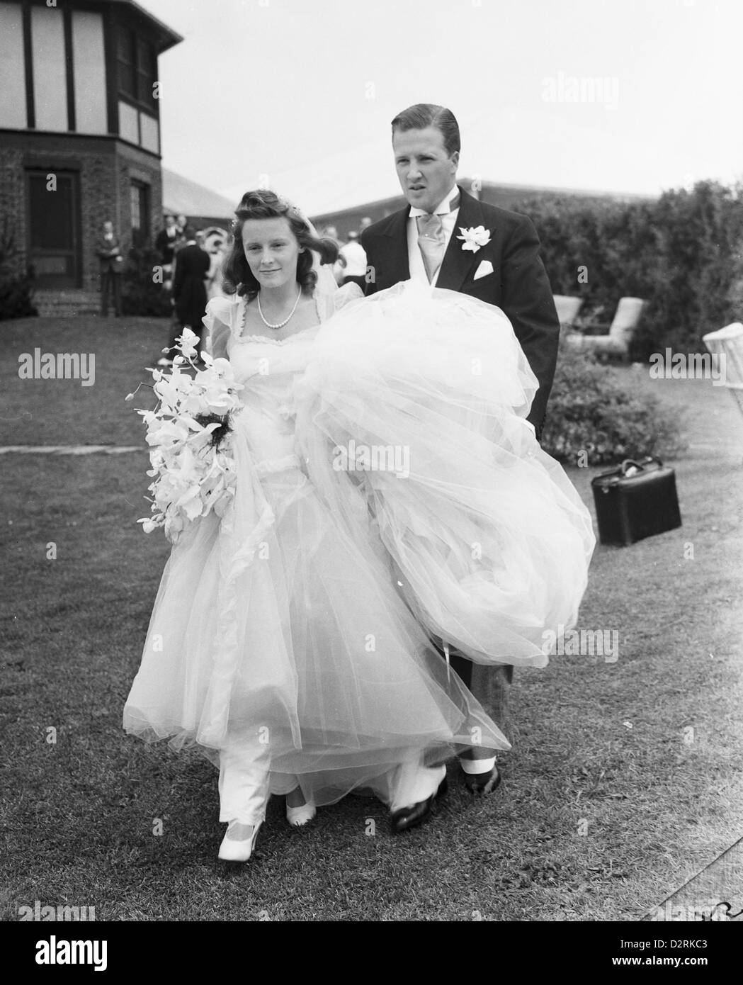 Mr mrs henry ford ii at their wedding southampton new york july