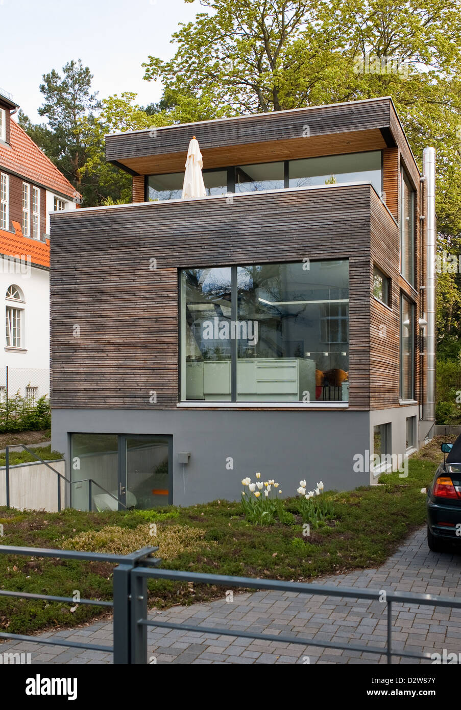 Berlin Germany modern house in the KlausGrothroad Stock Photo