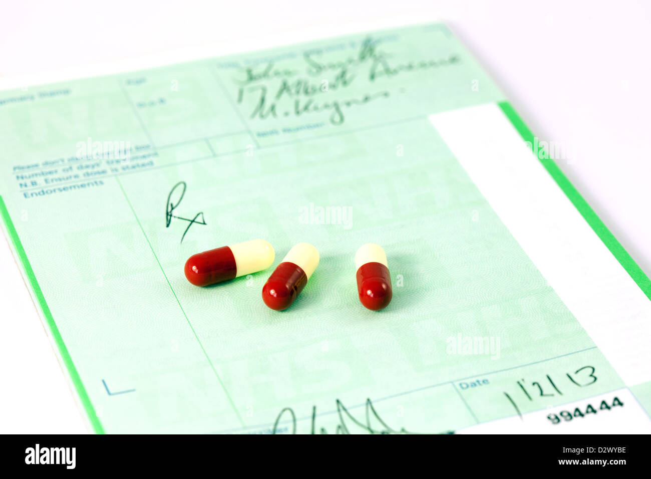 an nhs prescription pad and drugs