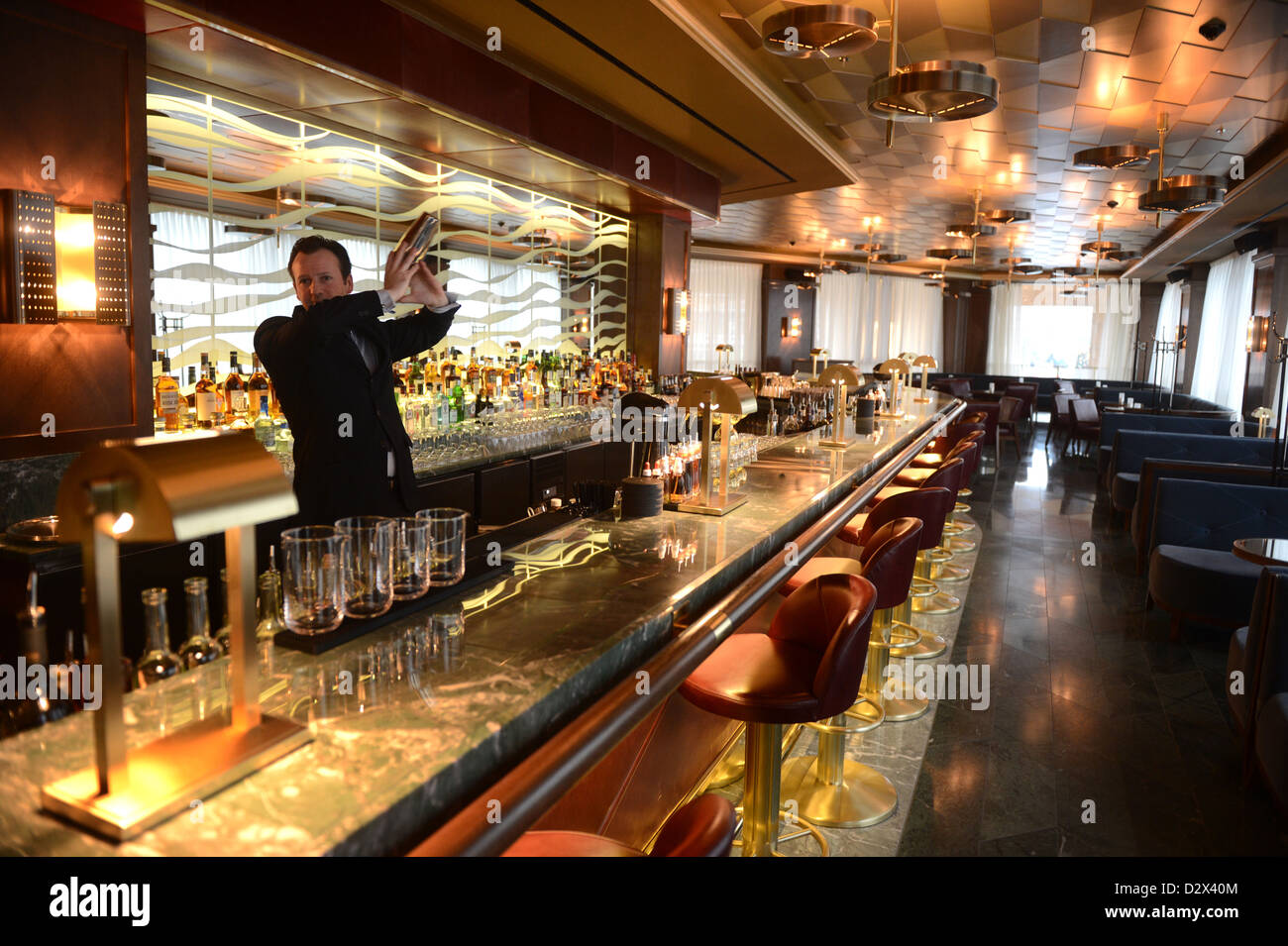berlin germany the long bar at the waldorf astoria berlin stock photo royalty free image. Black Bedroom Furniture Sets. Home Design Ideas