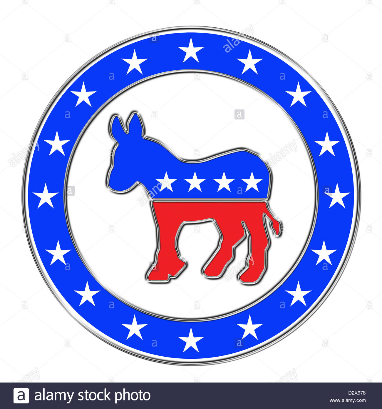 Democratic party logo stock photo 53438428 alamy democratic party logo biocorpaavc Image collections