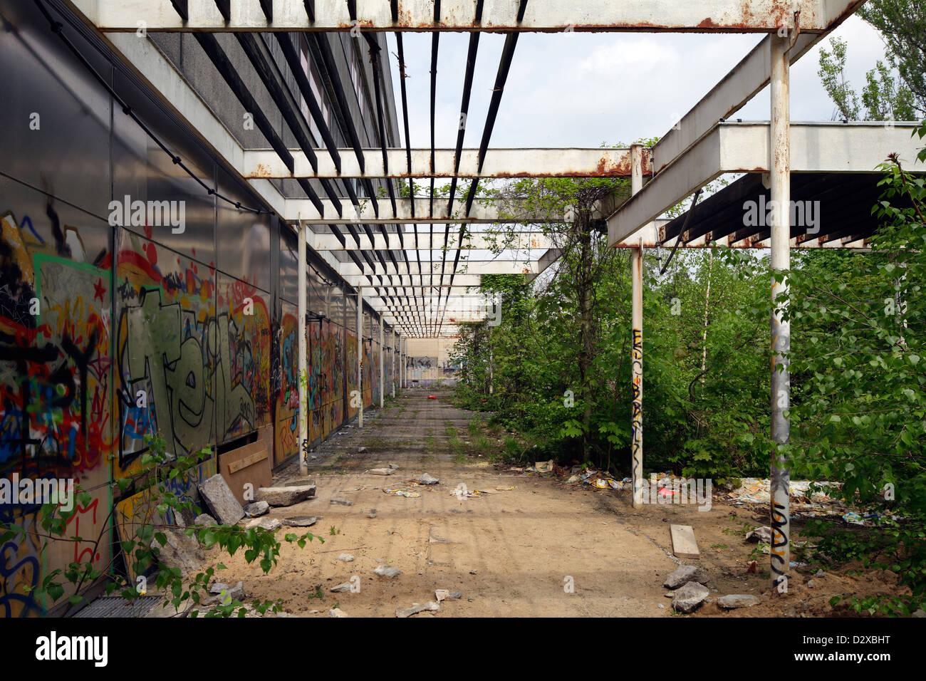 Berlin Germany Pergola At The Ruins Of The East German