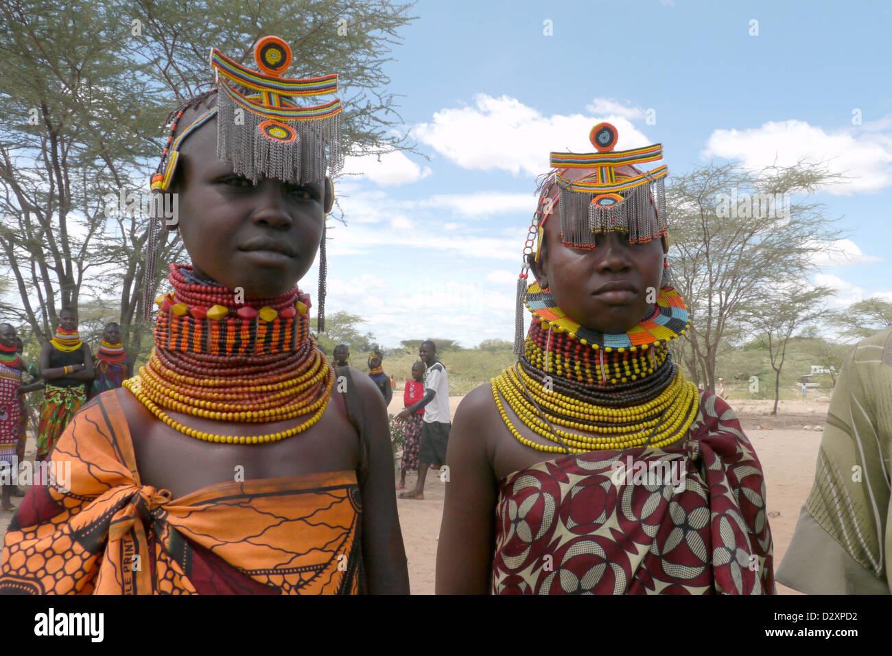 Kenya Young Turkana Tribal Beauties Lorugumu 20111001 Africa Stock ...