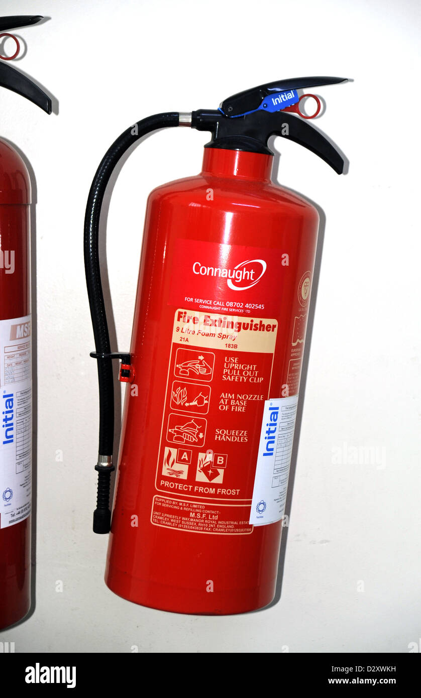 hanging fire extinguisher stock photos & hanging fire extinguisher