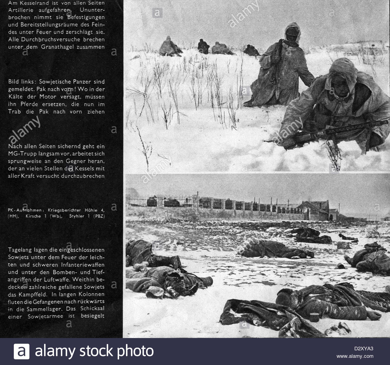 Russian Front In  From Nazi Propaganda Wartime Newspaper Stock Russian Front In  From Nazi Propaganda Wartime Newspaper Operation DXYA Stock Photo Russian Front In  From Nazi Propaganda Wartime Newspaper Operation