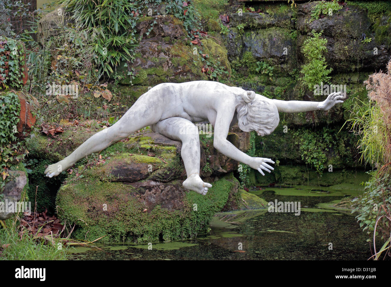 ... One Of The York House Garden Statues In Twickenham, London, UK.   Stock