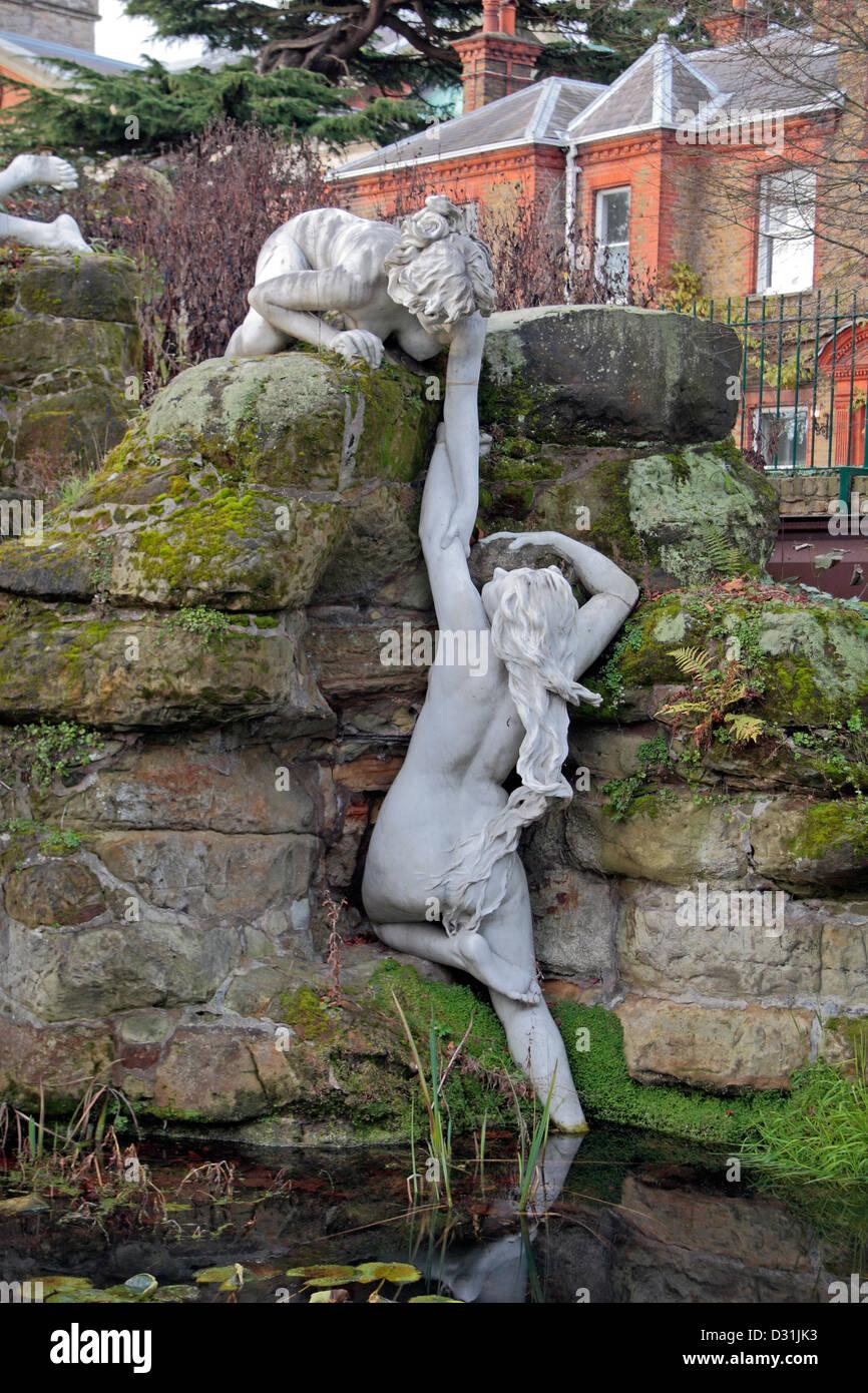 One of the York House Garden statues in Twickenham London UK