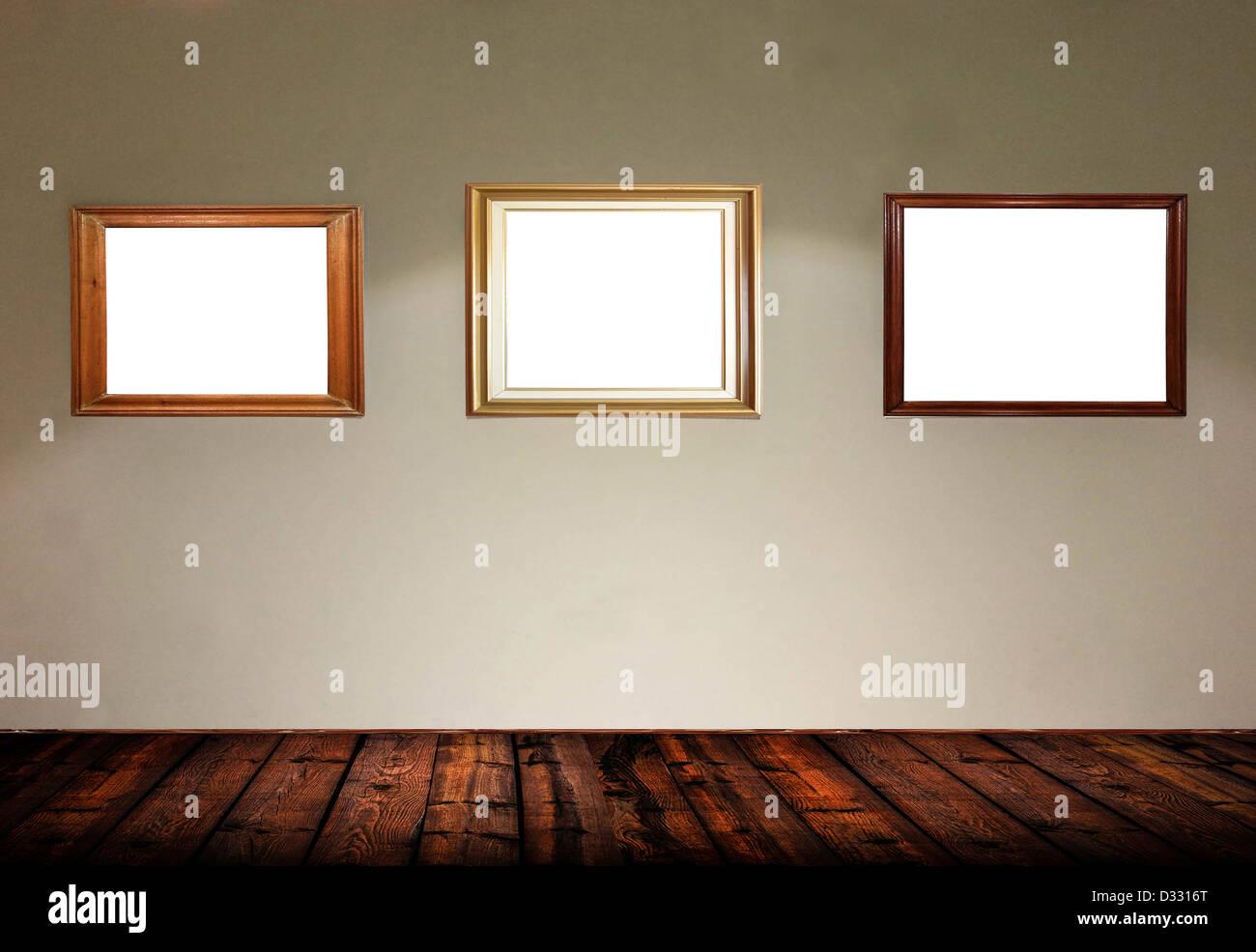 empty frames in gallery room - Empty Frames