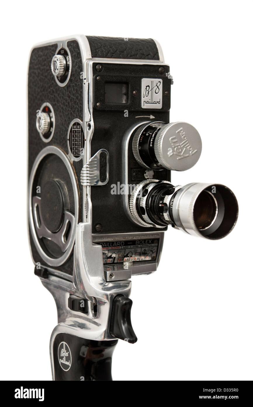 1955 1957 bolex paillard b8 cine movie film camera double 8mm stock photo 53545492 alamy. Black Bedroom Furniture Sets. Home Design Ideas