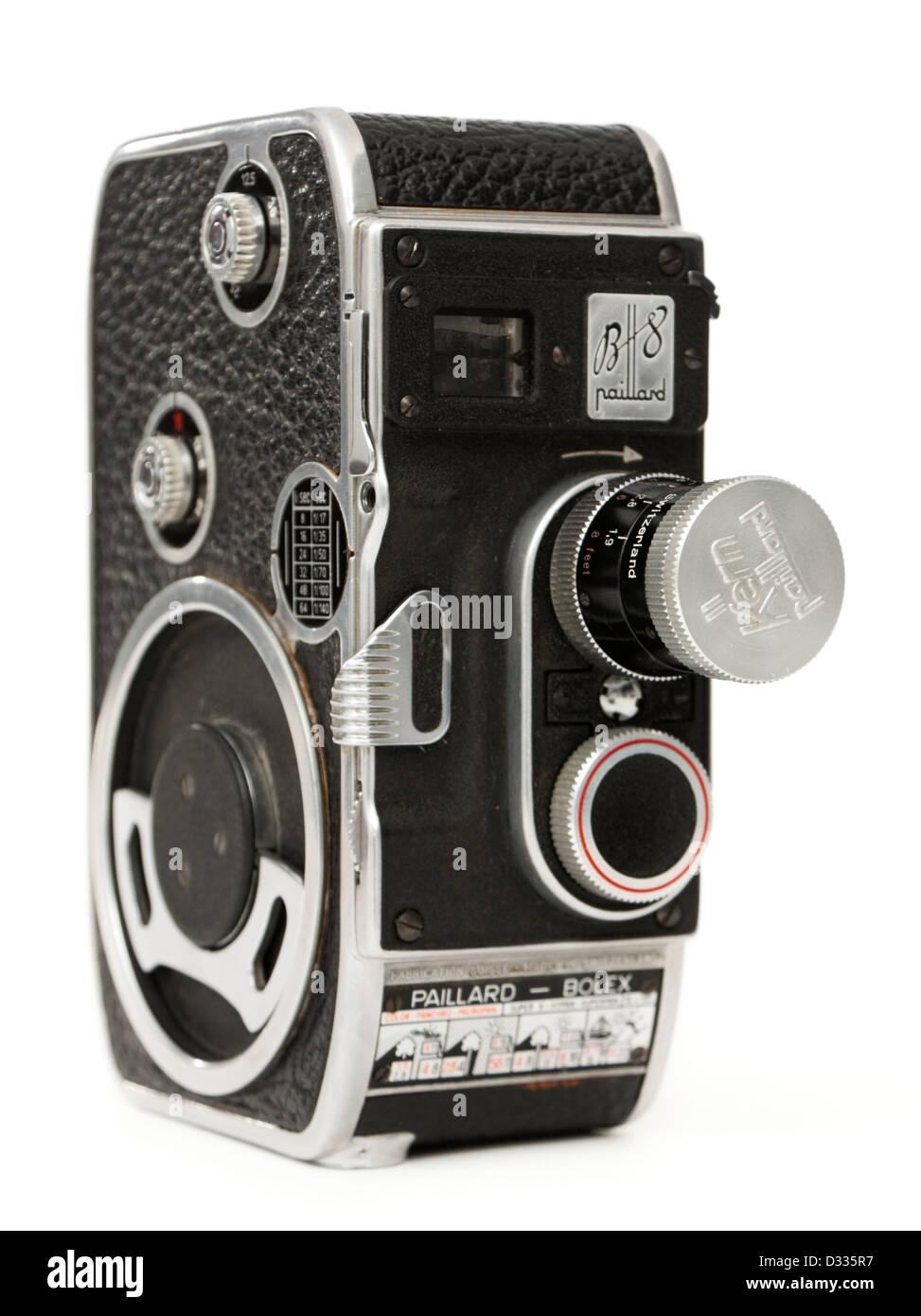 1955 1957 bolex paillard b8 cine movie film camera double 8mm stock photo royalty free image. Black Bedroom Furniture Sets. Home Design Ideas