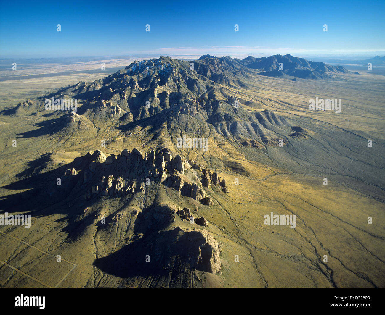 New mexico luna county columbus - Stock Photo U S A New Mexico Luna County Aerial View Of The Florida Mountains Near Deming