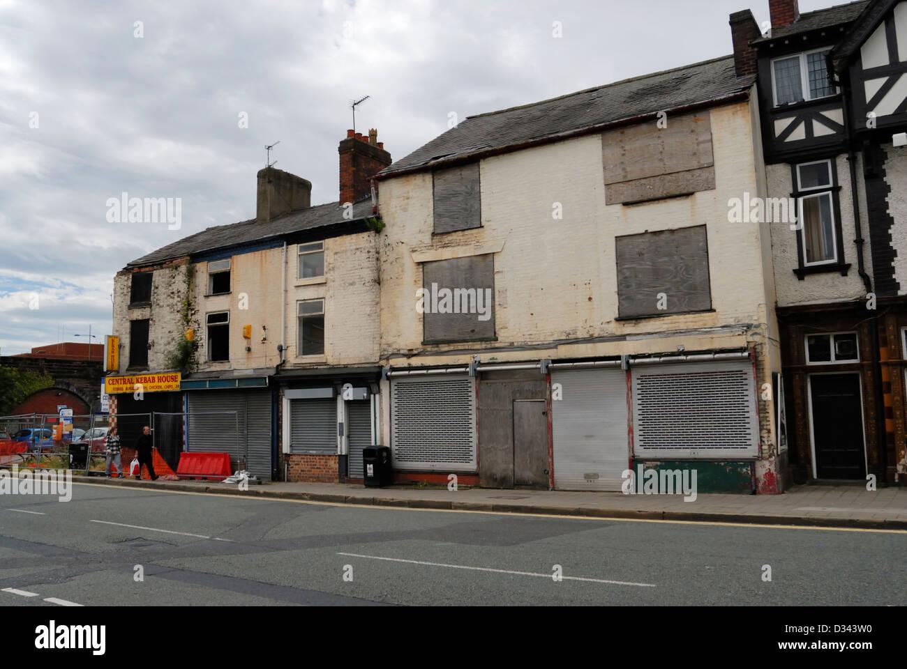 Rundown Building Decay Stock Photos Rundown: Run Down Semi Derelict Buildings In Warrington Town Centre