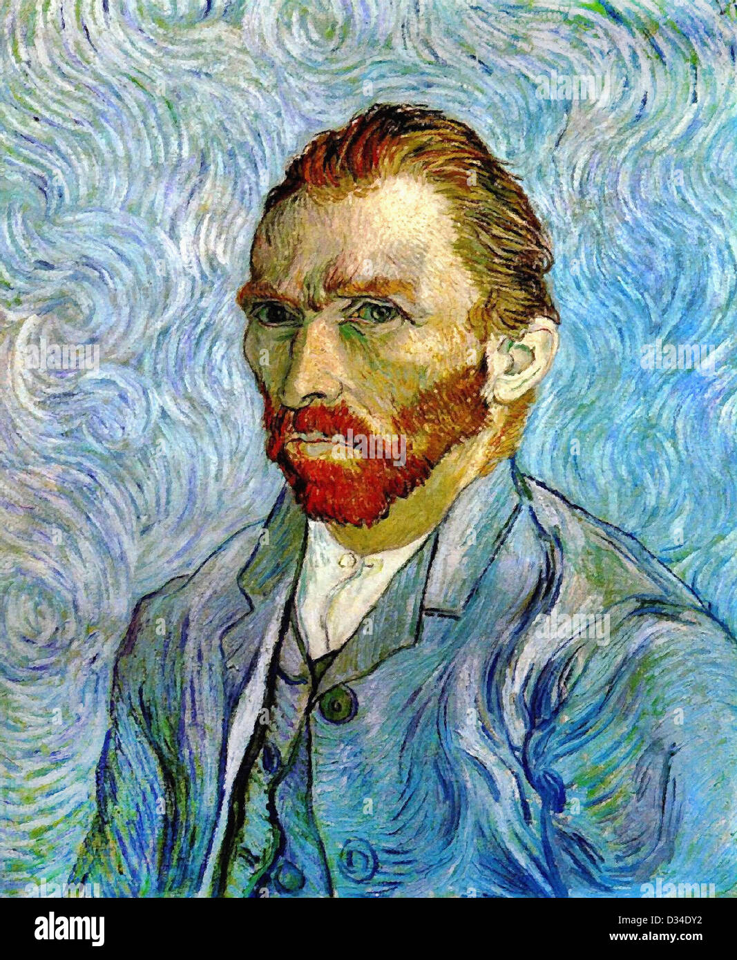 Vincent van Gogh, Self Portrait. 1889. Post-Impressionism. Oil on ...