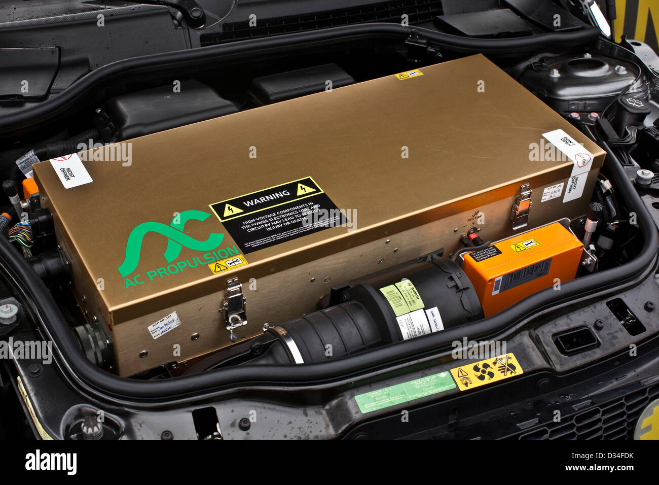 Lithium Ion Battery Pack In Bmw Electric Powered Mini E