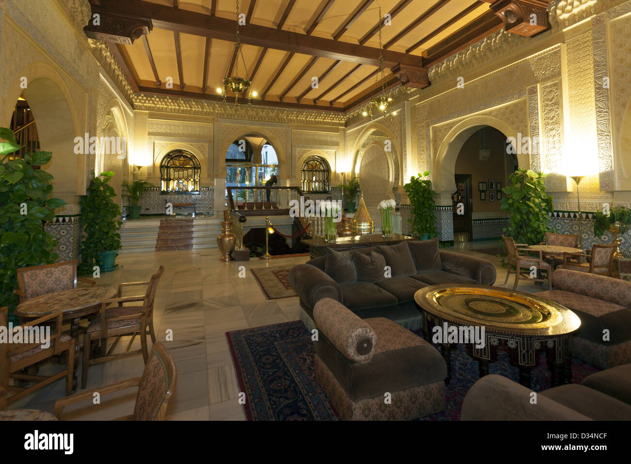 Interior of Hotel Alhambra Palace hotel Granada Spain