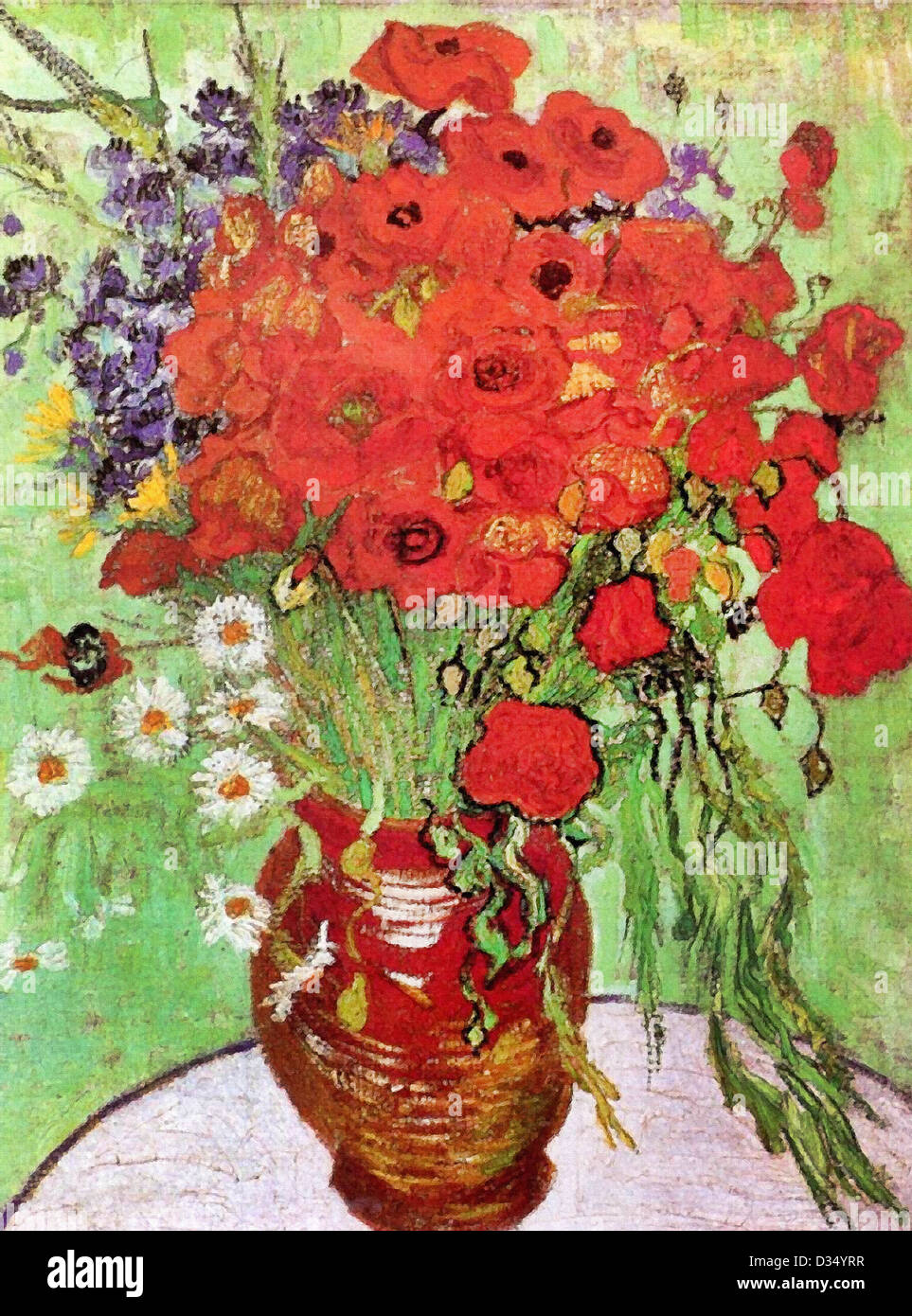 Vincent Van Gogh Red Poppies And Daisies 1890 Post